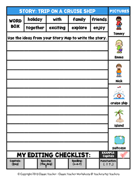 Story Writing-Summer-Grade 2 (2nd Grade)-Story Maps and Story Writing Templates