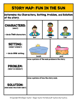 Story Writing - Summer - Kindergarten - Story Maps and Story Writing Templates