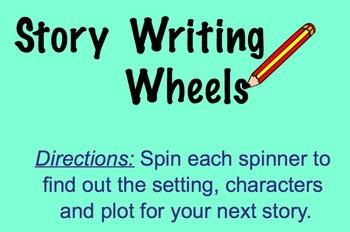 Story Writing Wheels (Smart Notebook)