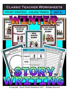Story Writing-Winter-Grade 3 (3rd Grade)-Story Maps and St