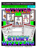 Story Writing-Winter-Grade 2 (2nd Grade)-Story Maps and Story Writing Templates