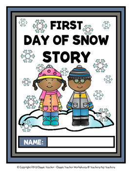 Story Writing - Winter - Kindergarten - Story Maps and Story Writing Templates