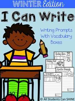 Writing Prompts With Vocabulary Words - WINTER Edition