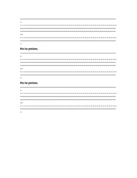 Story Writng Structure for Second or Third Grade
