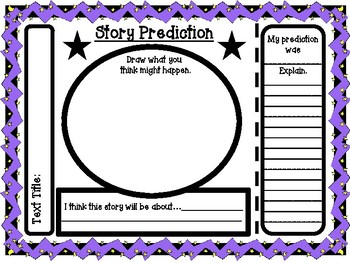 Story and Chapter Prediction Graphic Organizers for Any Text