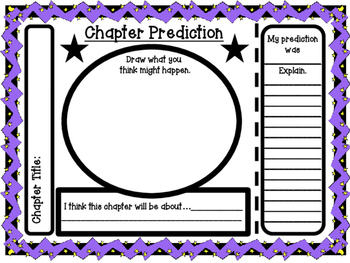 Story and Chapter Prediction Organizers