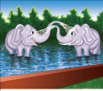 Story and lesson plan to teach Zoo animals and numbers 1 to 10