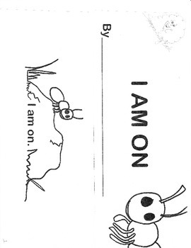 """Story booklet using basic sight/color words,""""an"""" word family and prepositions."""
