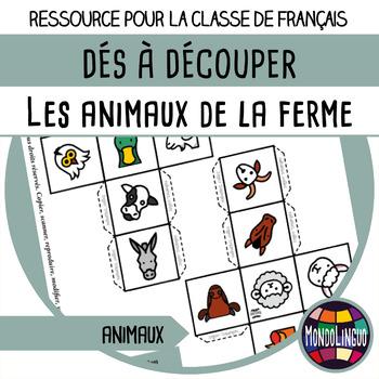Story dice in French/FFL/FLS: Animaux de la ferme/Farm animals