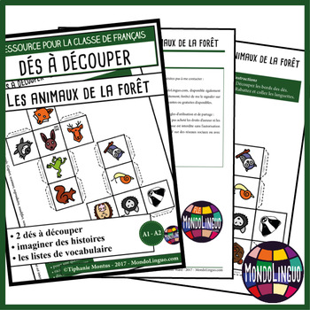 Story dice in French/FFL/FLS: Animaux de la forêt/Forest animals