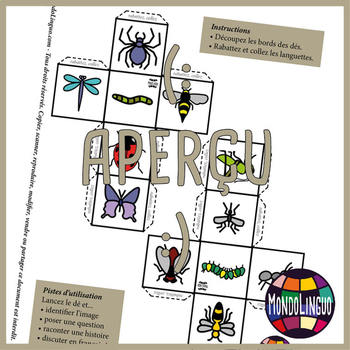 Story dice in French/FFL/FLS: Bestioles/Bugs