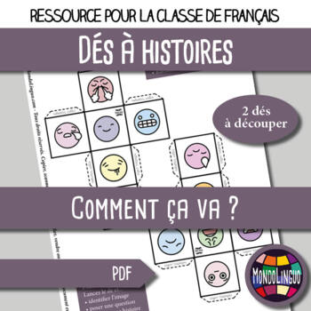 Story dice in French/FFL/FLS: Comment ça va ?/How are you?