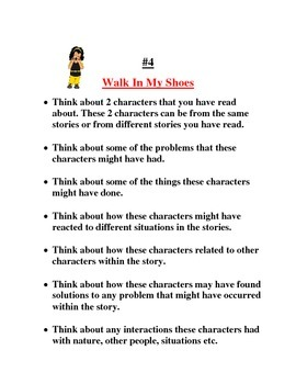 Story element - Character- Activites and Projects