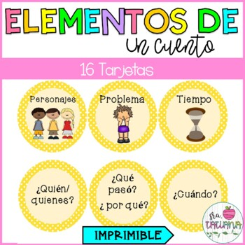 Story elements in Spanish- Los elementos de un cuento