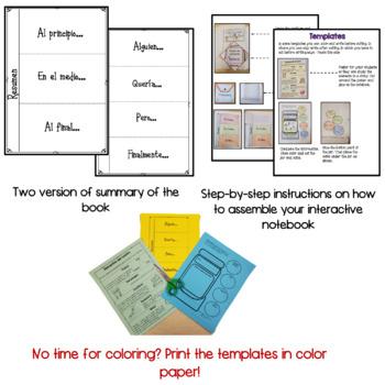 Story elements interactive notebook - Elementos del cuento - Spanish