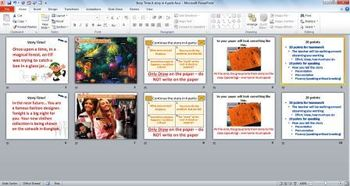 Story Making Group Project: A Story in Four Parts (PowerPoint Activity Guide)