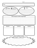 Story map and retell graphic organizers for grade 1-3