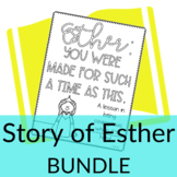Story of Esther Activities BUNDLE | Video lesson, coloring