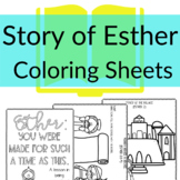 Story of Esther Coloring & Activity Sheets | Sunday School