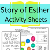 Story of Esther Printable Activities | Sunday School or Ho