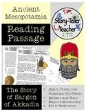 Story of Sargon of Akkad Mesopotamia Reading Passage