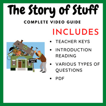 Story of Stuff - Complete Video Guide & Reference Material