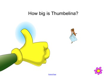 Story of Thumbelina linked to Measurement