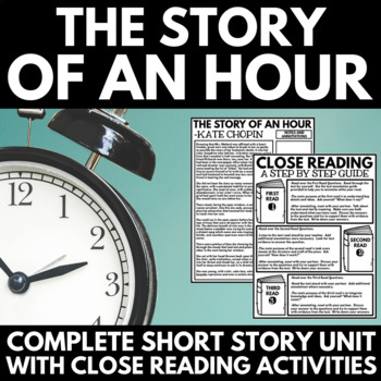 Story of an Hour by Kate Chopin Short Story Unit with Questions and Project