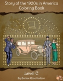 Story of the 1920s in America Coloring Book-Level C