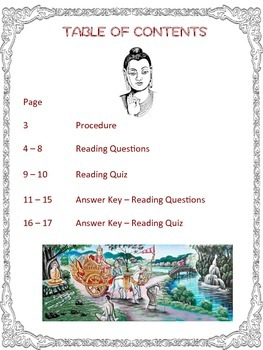 Story of the Buddha: Reading on Buddhism, Guided Questions, Assessment