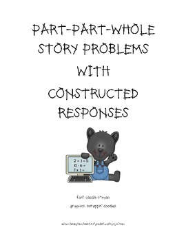 Story problems with constructed responses