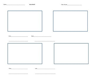 Story retell templates