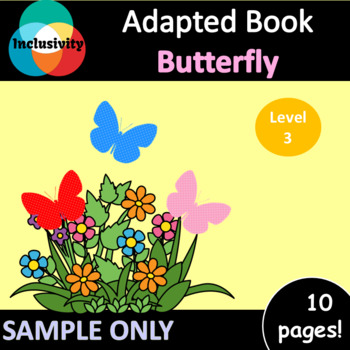 Butterfly Sample counting & colours/colors ADAPTED BOOK level 3