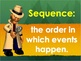 Story Sequencing and Time Order Words PowerPoint and Interactive Quiz