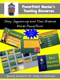Story Sequencing and Time Order Words PowerPoint and Inter