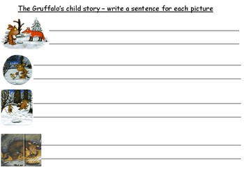 Story sequencing booklet- The Gruffalo's child