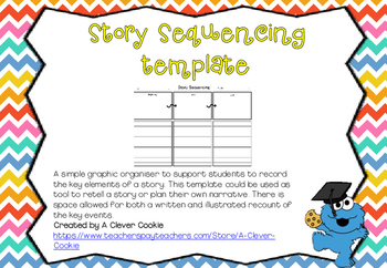 Story sequencing template for narrative retell