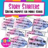 Story starters and writing prompts for middle schoolers