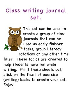 Story writing journal/creative writing journals