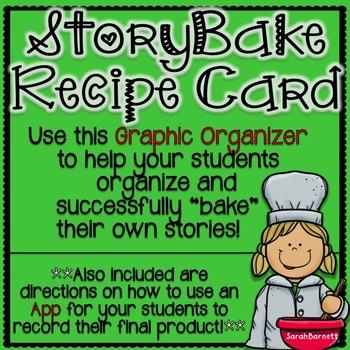 StoryBake Recipe Card - Graphic Organizer for Creative Writing!
