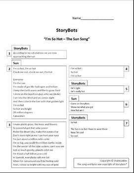 "StoryBots ""Im So Hot - The Sun Song"" Lyrics"