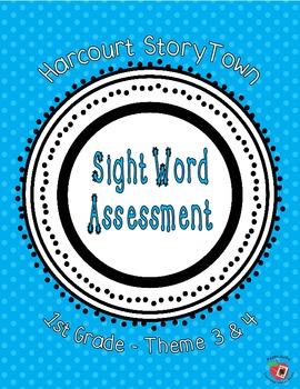 StoryTown 1st grade HF word assessment, Th. 3&4