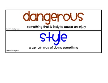 StoryTown 2nd Grade Robust Vocabulary Cards Themes 1-6