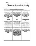 StoryTown Choice Board - Ask the Experts #15