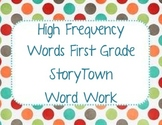 StoryTown First Grade High Frequency Words Word Work
