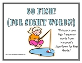 StoryTown Go Fish First Grade High Frequency Words Game