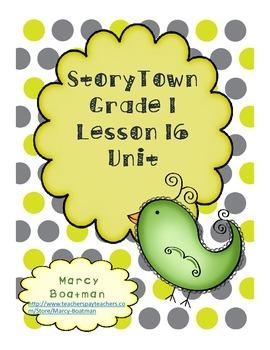 StoryTown Grade 1 Lesson 16 Resource Unit
