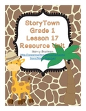 StoryTown Grade 1 Lesson 17 Resource Unit