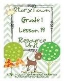 StoryTown Grade 1 Lesson 19 Resource Unit