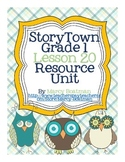 StoryTown Grade 1 Lesson 20 Resource Unit
